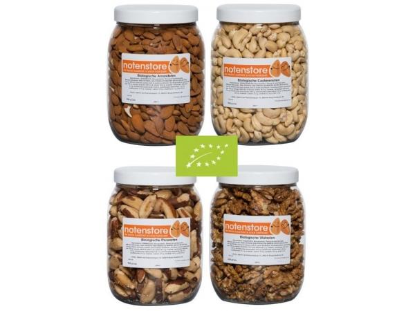 Vorteilspaket Bio-Nüsse 3 (Mandeln, Cashewnüsse, Paranüsse und Walnüsse)