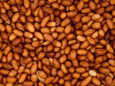 Erdnüsse mit Haut geröstet, ohne Salz
