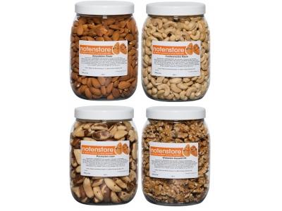 Vorteilspaket Nüsse 3 (Mandeln, Cashewkerne, Paranüsse, Walnüsse)