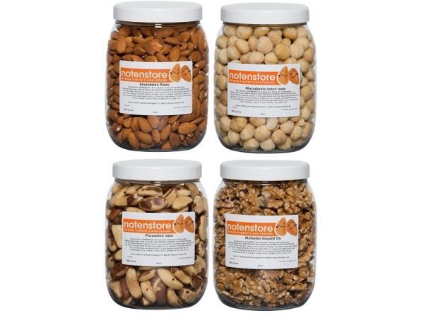 Vorteilspaket Nüsse 4 (Mandeln, Macadamia, Paranüsse, Walnüsse)